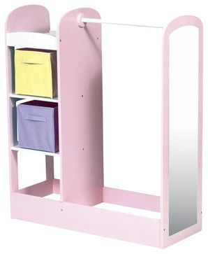 Guidecraft Pastel See and Store Dress Up Center - transitional - Kids Dressers - Cymax - $170
