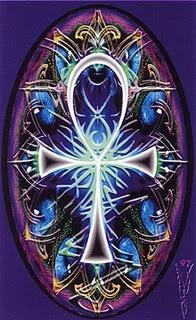 Ankh-symbol of eternal life.                                                                                                                                                                                 More
