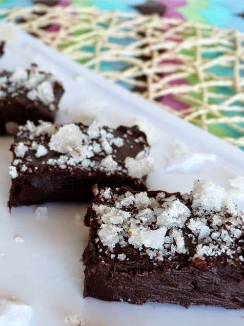 Fudge de chocolate, con azúcar de bourbon y sal marina