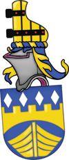 SV-48 Bengt Wilhelm Mannbro, Svanesund   Registrerat 2009-02-17.   (Ansökan 2007:64)       Sköld: I blått en medelst tinnskura ovan och bågskura nedan bildad bjälke av guld, åtföljd ovan av fyra spetsrutor av silver och nedan av en framifrån sedd båt av guld.       Hjälmtäcke: Blått fodrat med guld.       Hjälmprydnad: Ett roder av guld med svarta beslag och röda spikhuvuden.