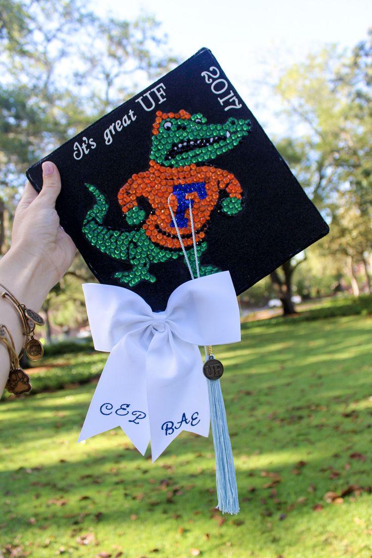 UF Abschlusskappe, #decorated #grad #cap University of Florida, #goGators # classof2017 # 2017 #UF #graduationcap #gradcapdecorate #decorate #craft #gra ...