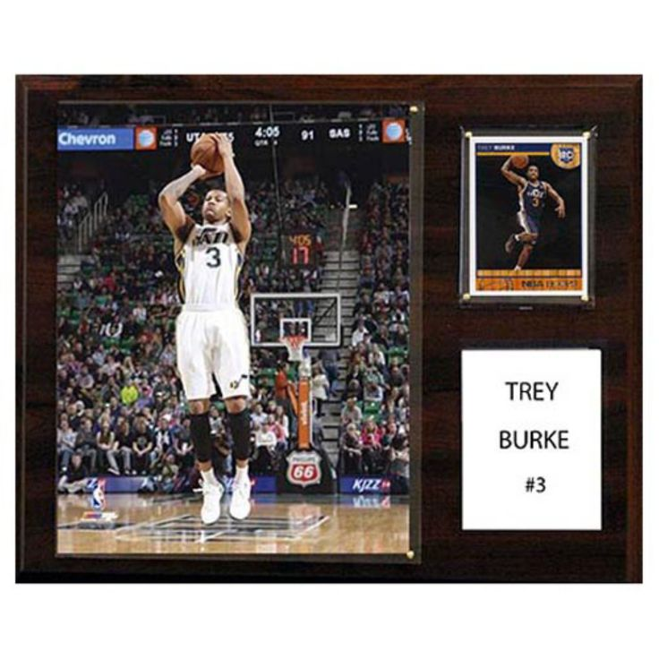 C and I Collectables NBA 15W x 12H in. Trey Burke Utah Jazz Player Plaque - 1215TBURKE