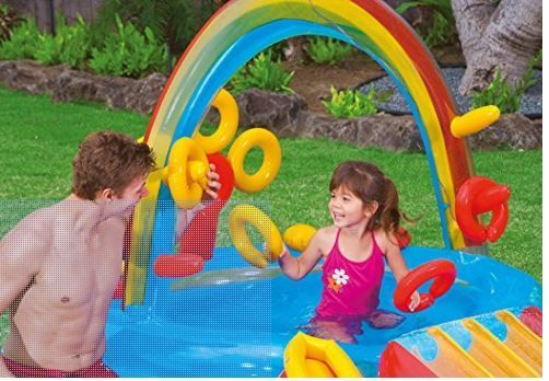 Intex Rainbow Ring Inflatable Play Center $38.37! - https://www.momscouponbinder.com/9969-2/ #clearance #hotdeals #bargains
