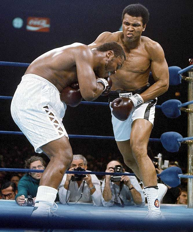 Joe Frazier and Muhammad Ali (1974)