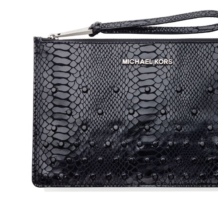 Michael Kors Clucth, MICHAEL KORS / Crystal-studded python skin - the unusually striking holiday must-have on the list of every femme fatale! #STCLuxeGuide #Toronto #Fashion #Holiday