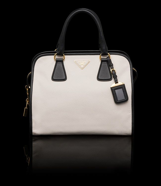 Prada Handbag Black And White