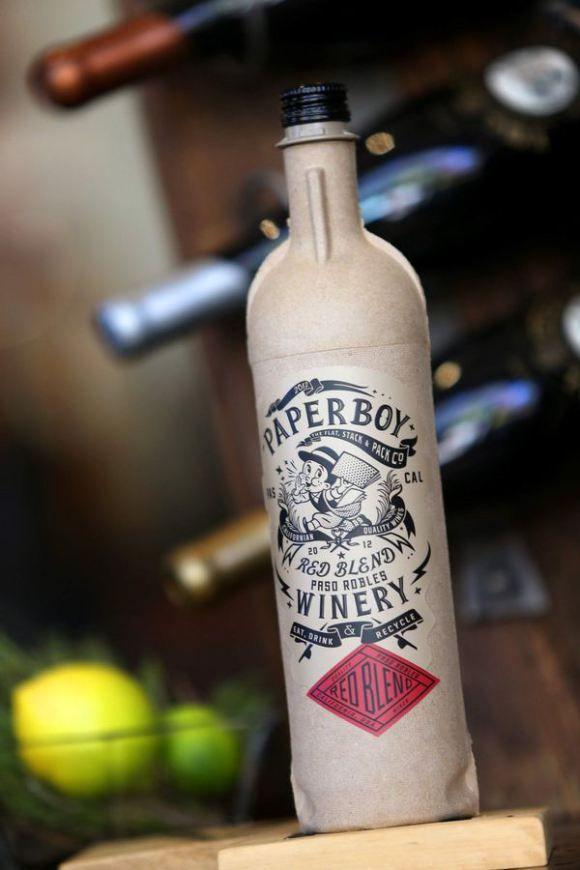 なんと紙で作られたワインボトルですってえぇ! パーティやアウトドアに最適だよ!!
