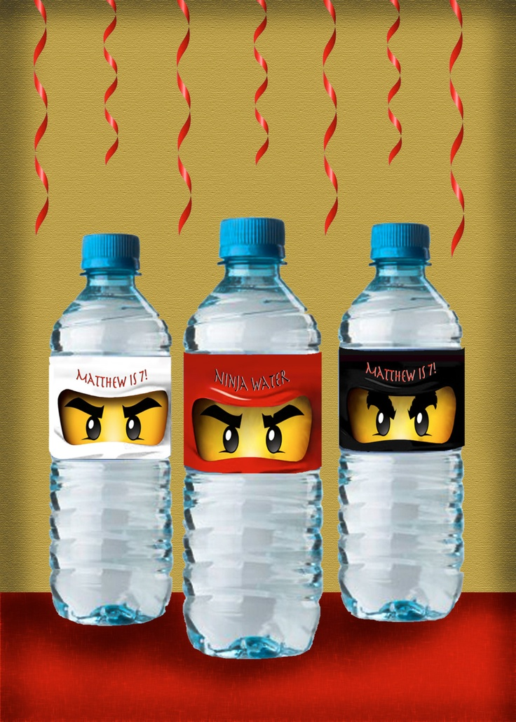 Lego Ninjago Water Bottle Labels by OrchidAvePrintables on ...