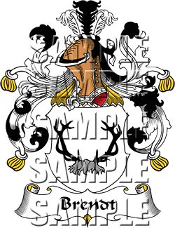 Brendt Family Crest apparel, Brendt Coat of Arms gifts