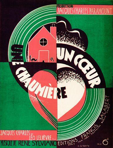 Une Chaumiere Un Coeur - Anonymous Prints - Easyart.com