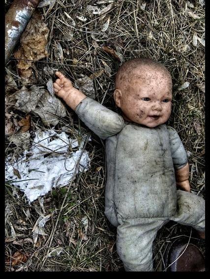 Abandoned doll.