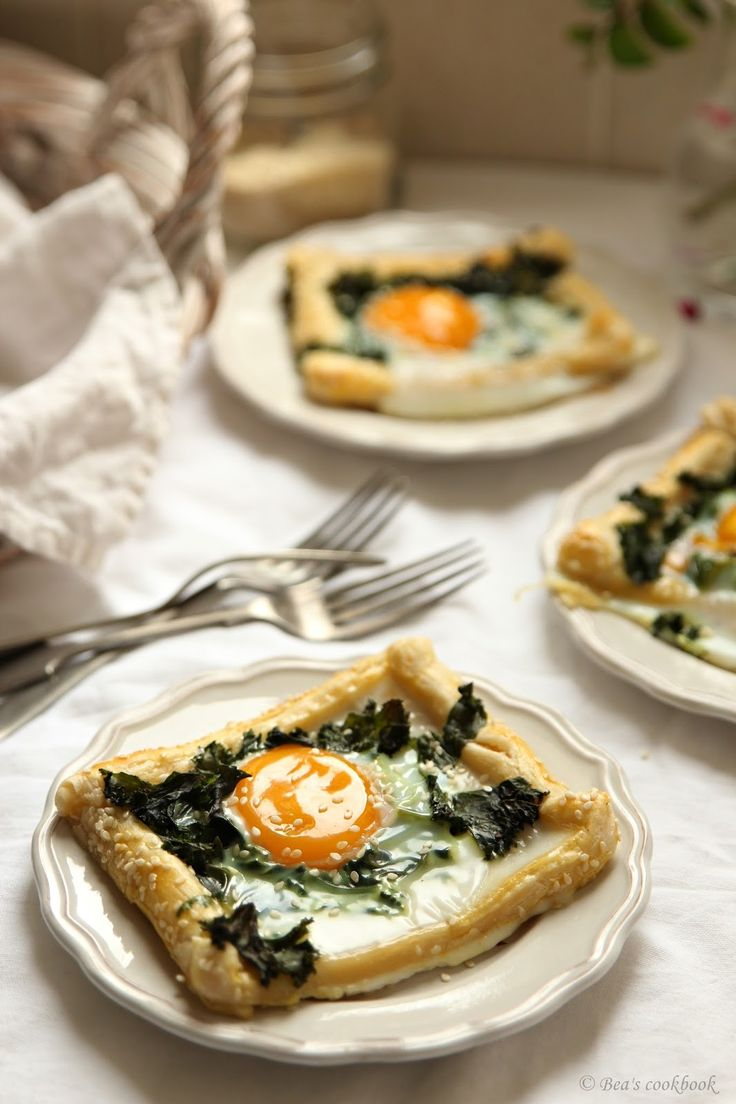 Bea's cookbook: Puff pastry EGG and KALE bakes.