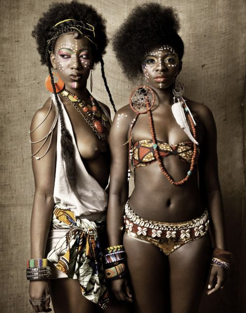 """Two dancers from the Fela musical. From the portrait series """"Fela's Queens."""""""