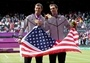 Bryan brothers won their 1st Olympic doubles GOLD medal vs French superstar Jo-Wilfried Tsonga & Michael Lodra - London 2012 Olympics