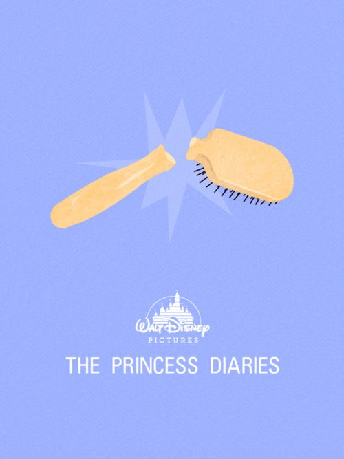 Only true fans would know why someone would use a broken hairbrush as a Movie poster for the Princess Diaries ;)
