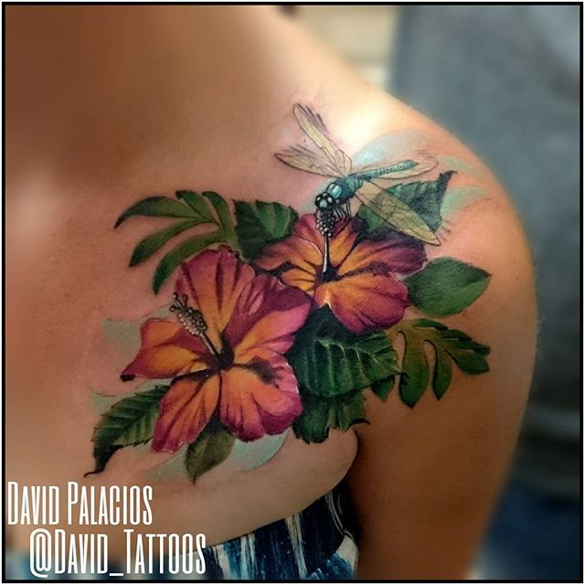 Pin for Later: 25 Totally Tropical Tattoos That'll Make It Summer All Year Round Hibiscus Nectar