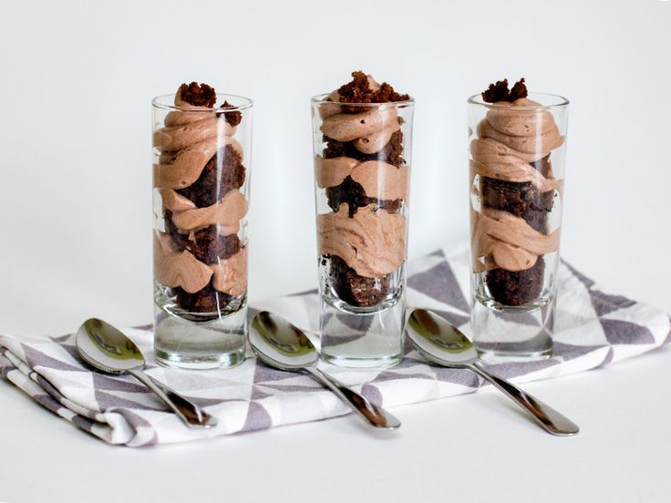 Chocolate Mousse and Brownie Shot Glass Dessert
