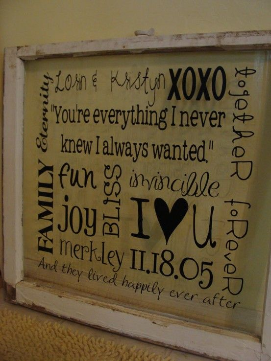 I have an old window pane, and I couldnt figure out what to do with it....this would be perfect ! (Dez, remember that dirty disgusting window I pulled out from the garbage pile?) :)