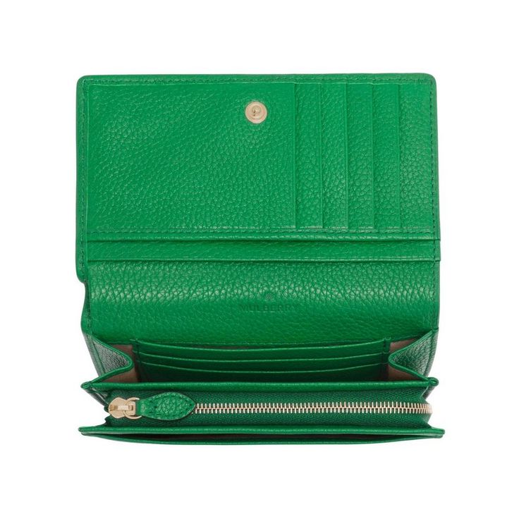 Tree French Purse in Jungle Green Small Classic Grain | Women | Mulberry
