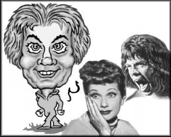 Caricature and photos of Leos Lucy Ball, Mick Jagger #Lew #Leo