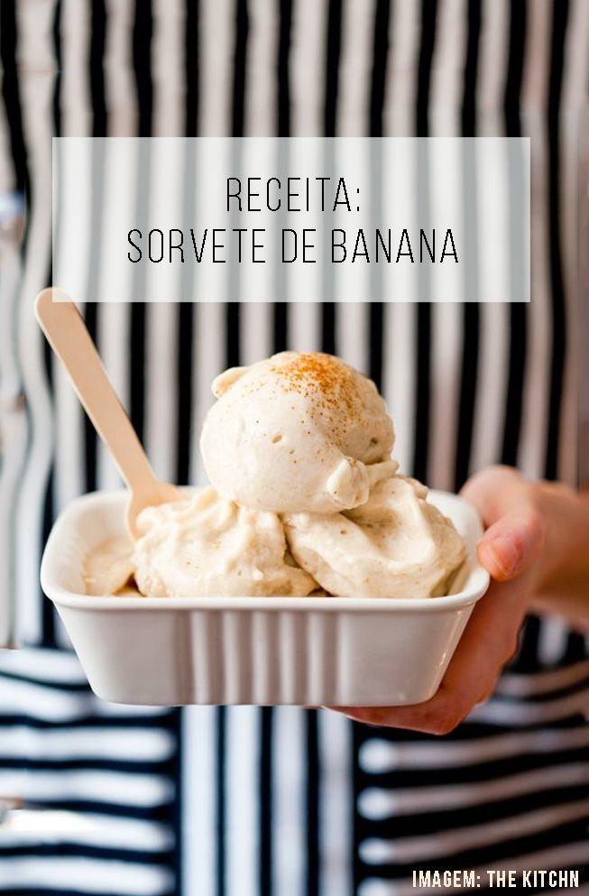 Receita de sorvete de banana super ultra fácil, com apenas 1 ingrediente, e de…