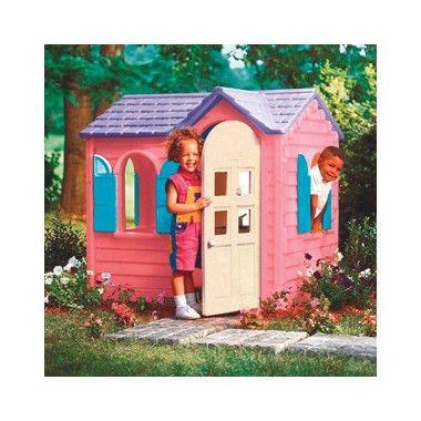 Little Tikes Country Cottage roze  Het Little Tikes Country Cottage is een schattig roze speelhuis voor meisjes met 4 ramen met luiken en een deur die open en dicht kan. Binnenin zijn een gootsteen fornuis en draadloze telefoon aanwezig.  EUR 359.00  Meer informatie