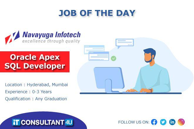 Oracleapexsqldeveloper Oracledeveloper Sqldeveloper Hyderabadjobs Mumbaijobs Itconsultant4u Freelancing Jobs Job Job Search
