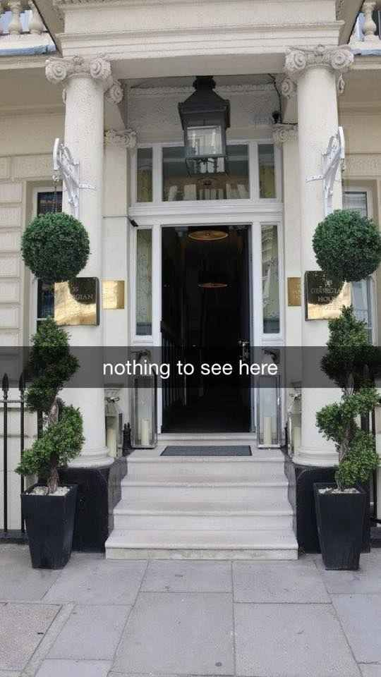The Georgian House Hotel in Victoria, London, is pleased to say that it is perfectly normal thank you very much.