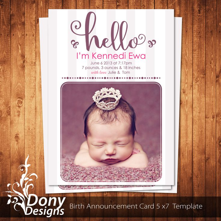 1000 images about Birth Announcement Template – Baby Announcement Cards Template Free