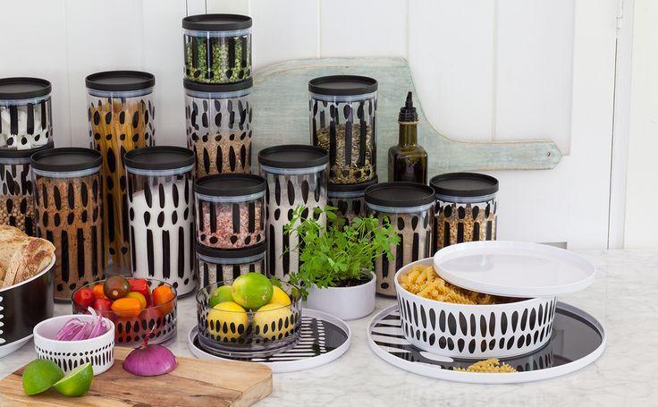 Great designs on food storage www.bzyoo.com #homedecor #storage #decor #black #design