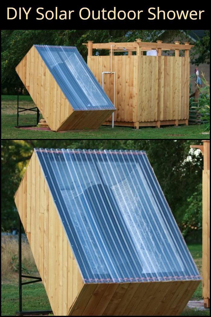 Diy Solar Outdoor Shower Outdoor Showers Solar