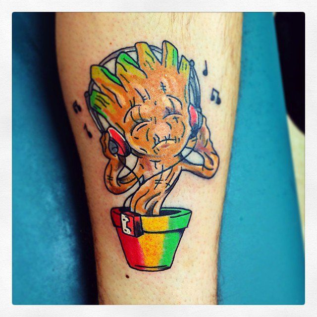 Pin for Later: Prepare to Geek Out Over These Tattoo Ideas Rasta Groot