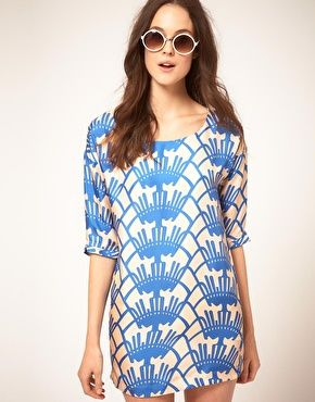 I love shift dresses, especially in bold prints.