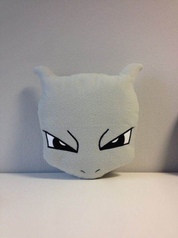 Mewtwo Pokemon manga anime handmade pillows by YxPxPxY on Etsy