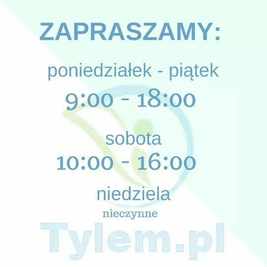Nowe godziny otwarcia naszego sklepu stacjonarnego! :)  Al. Prymasa Tysiąclecia 76D lok. 2 Warszawa