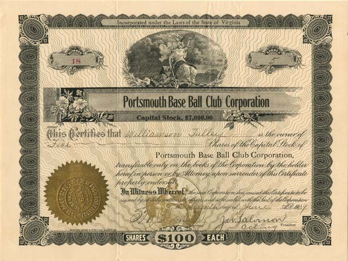 Portsmouth Base Ball Club Corporation