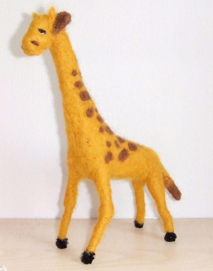sweet GIRAFFE  needle felted miniature beautiful animal toys  handmade #2 #nutka_art #AllOccasion