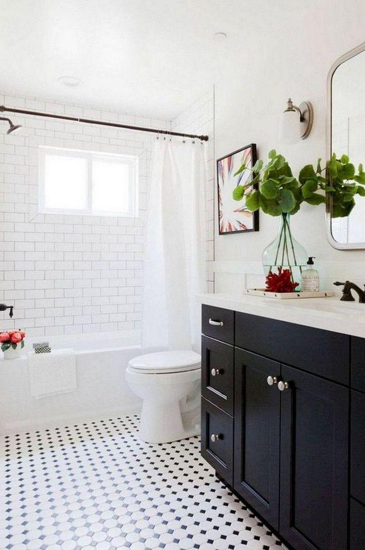 Casual Black And White Tile Bathroom Decor Will Inspire You Decomagz White Bathroom Tiles Tile Bathroom Small Bathroom Remodel