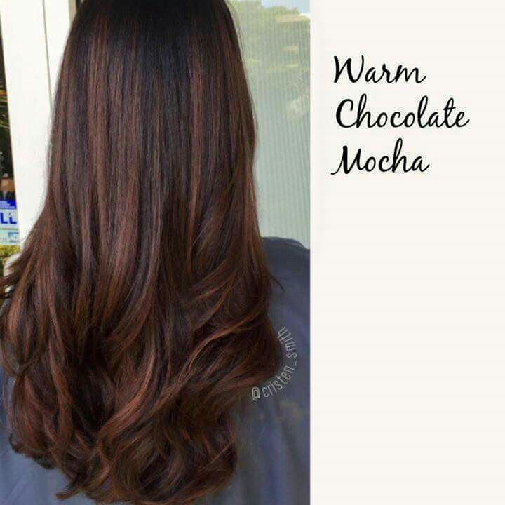 Chocolate Brown Hair With Foils
