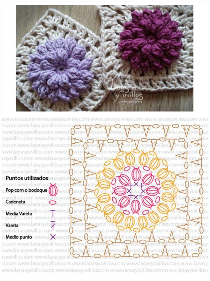 Mejores 229 imágenes de Granny Squares en Pinterest   Patrones de ...