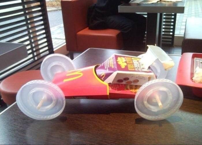 Macca's car....