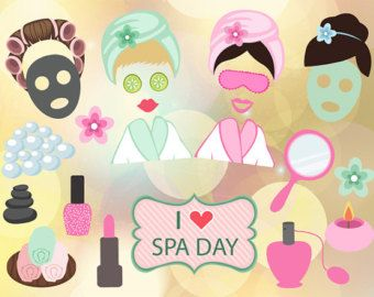 Spa party photo booth printables INSTANT by MyHeartnSoulBoutique