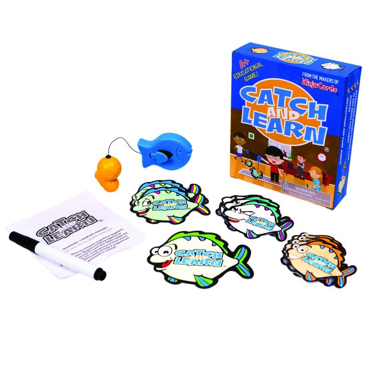 Catch And Learn by Ninja Cards - The Best Educational Fishing Game For Kids. DEVELOPS FINE MOTOR SKILLS: With included retractable magnetic fish catcher, 10 dry erase fish cards and marker, the educational possibilities are literally endless!. LEARN MATH, SPELLING AND GRAMMAR: Promotes confidence and self esteem. TEACH SHAPES AND COLORS: The dry-erase fish cards offer a wide variety of learning challenges. Watch your kids beg to be tested!. ENDLESS FUN: Pick up multiple fish with the push…