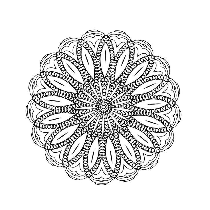 Dream with Mandalas coloring book Design d31-13