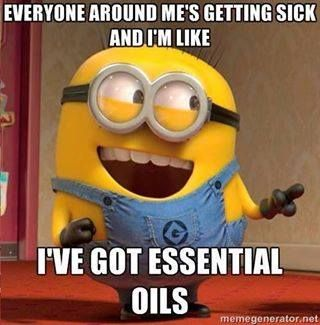Everyone around me is getting sick and I'm like I've got essential Oils!!!!
