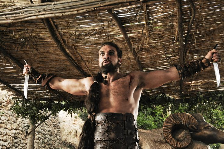 Seriously, easily the best character on Game of Thrones. Leader of men, fierce, romantic and committed to his queen. Why'd you leave us Drogo?