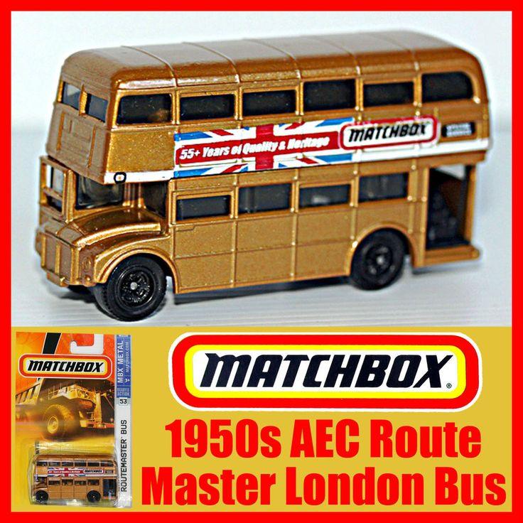 Matchbox 1950s AEC Routemaster Double Decker London Bus Gold MOC 55 Years Mint