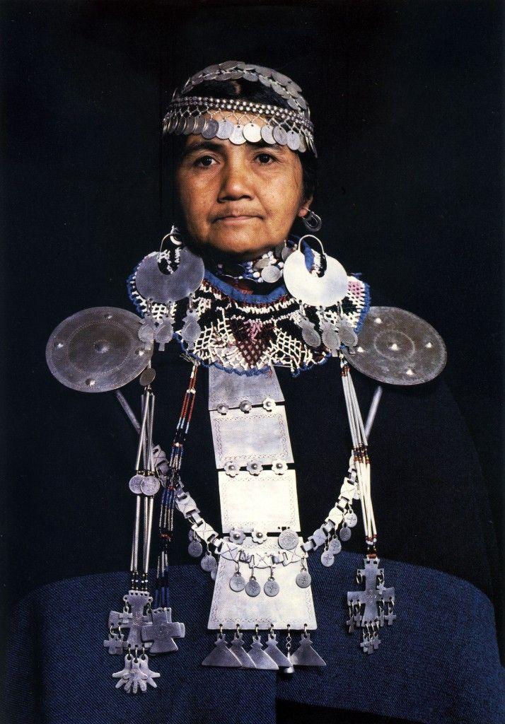 Mapuche lady. South America