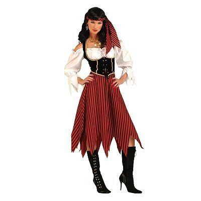 Homemade Halloween Costumes for Women | Women's Pirate Maiden Costume - Adult Halloween Costumes