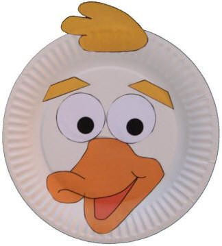 Paper Plate Duck Craft or Mask   :)